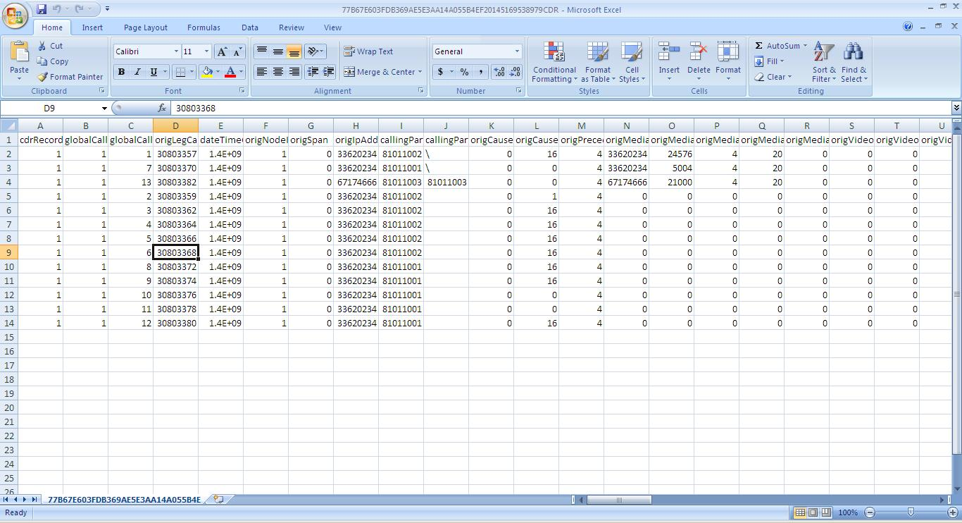 Cisco CDR (Call Detail Record) Reporting - Part I