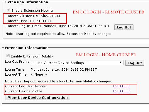 Extension Mobility Cross Cluster – Troubleshooting