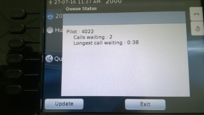 Cisco Hunt Group call waiting Queue Status